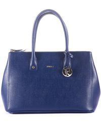 Furla | Linda Saffiano-Leather Tote | Lyst