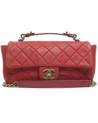 Chanel Preowned Red Caviar Chic Iridescent Flap Bag - Lyst