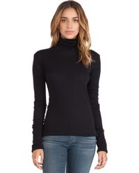 Enza Costa Cashmere Cuffed Turtleneck - Lyst