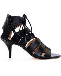 Loeffler Randall Luiza Kitten Heel Sandal black - Lyst