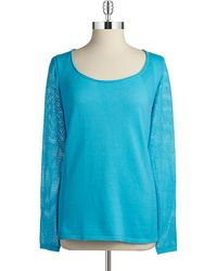 T Tahari Knit Sweater - Lyst
