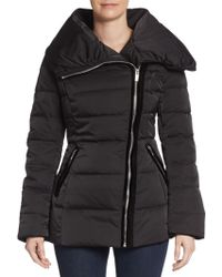 Vera Wang Asymmetrical Quilted Puffer Jacket - Lyst
