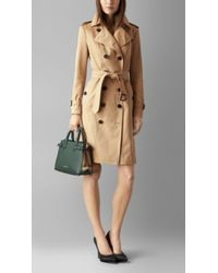 Burberry The Small Banner in Leather and House Check - Lyst