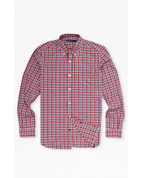 French Connection High Summer Check Shirt purple - Lyst