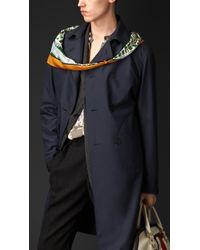 Burberry Lightweight Silk Trench Coat - Lyst