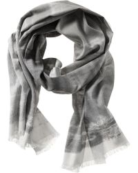 Banana Republic Brushstroke Scarf Dark Charcoal - Lyst