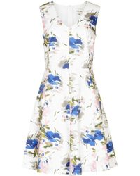 Reiss Printed Novelty Cotton Dress - Lyst