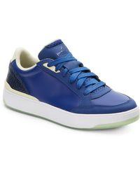 Alexander McQueen x Puma Brace Leather Low-Top Sneakers blue - Lyst