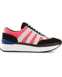 Kenzo Pink Paneled Sneakers - Lyst