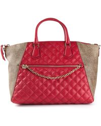 Borbonese Quilted Panel Tote - Lyst