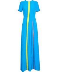 Roksanda Flared Silk Maxi Dress - Lyst