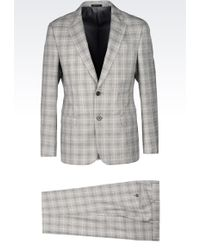 Armani Comfort Fit Suit In Prince Of Wales - Lyst
