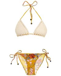 Zimmermann Confetti Crochet-top Bikini - Lyst