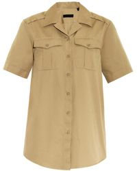 Burberry Prorsum Notch-Collar Safari Shirt - Lyst