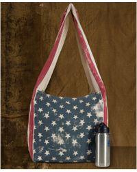 88748530da2d Denim   Supply Ralph Lauren - Flagprint Messenger Bag - Lyst