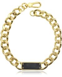 Marc By Marc Jacobs - Link To Katie Id Plaque Statement Necklace - Lyst