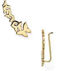 Jennifer Zeuner Symone Butterfly Ear Cuffs - Lyst