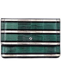 Givenchy Podium Snake Leather Clutch - Lyst
