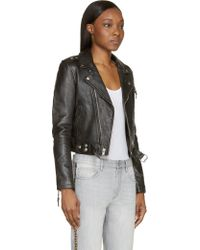 BLK DNM Black Classic Moto Jacket - Lyst