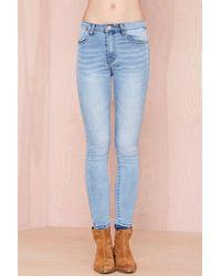 Nasty Gal Blue Skies Skinny Jeans - Lyst