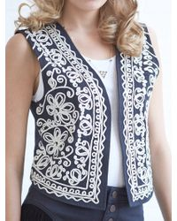 House Of Harlow Blue Moon Vest - Lyst