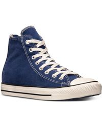 Converse Mens Chuck Taylor Back Zip Hi Casual Sneakers From Finish Line - Lyst