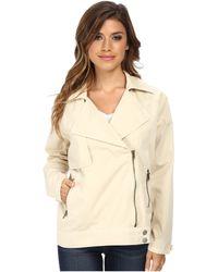 Michael Stars Cotton Twill L/S Moto-Trench Jacket - Lyst