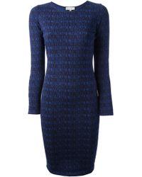 Lulu & Co Text Print Bodycon Dress - Lyst