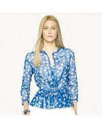 Ralph Lauren Black Label Floral Catherina Blouse - Lyst