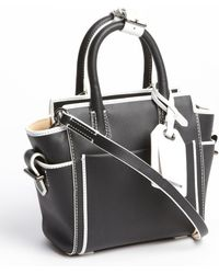 Reed Krakoff Black and White Leather Mini Atlantique Convertible Tote - Lyst