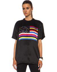 Givenchy American Flag Silk Tee - Lyst
