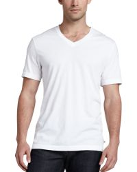 James Perse V-neck Cotton Tee - Lyst
