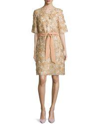 ESCADA Half-Sleeve Floral-Applique Coat - Lyst