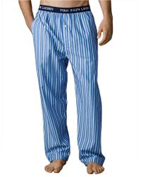 Polo Ralph Lauren Striped Woven Pajama Pants - Lyst