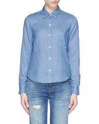 Theory 'Tianmer' Ramie Shirt blue - Lyst