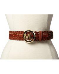 MICHAEL Michael Kors 38Mm Braided Belt W/ Mk Buckle - Lyst
