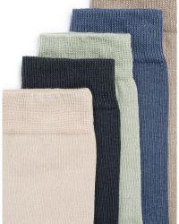 TOPMAN - Five-pack Crew Socks - Lyst