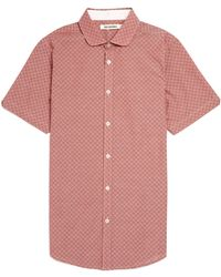 Ben Sherman Spot Print Chambray Short Sleeve Shirt - Lyst