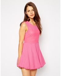 AX Paris Skater Dress With Sequin Bust - Lyst