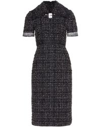 Calvin Klein Black Tweed Dress - Lyst