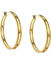 Vince Camuto - Goldtone Open Hoop Earrings - Lyst