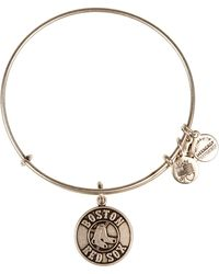 ALEX AND ANI - Boston Red Sox Logo Expandable Wire Bangle - Lyst