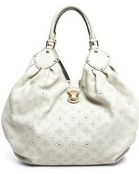Louis Vuitton Pre-owned Beige Opal Monogram Mahina L Bag - Lyst