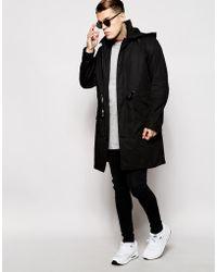 DIESEL | Jacket J-izuna Belted Hooded Mac | Lyst