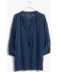 Madewell Embroidered Openview Tunic - Lyst