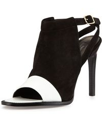 Rachel Zoe Lacey Suede And Leather High-Heel Pump - Lyst