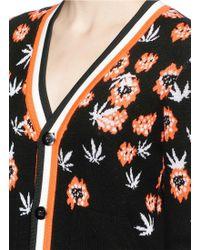 Helen Lee - Floral Wool-cashmere Blend Knit Cardigan - Lyst