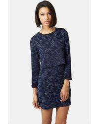 Topshop Space Dye Overlay Dress - Lyst