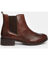 Carvela Kurt Geiger Tudor Leather Chelsea Boots - Lyst