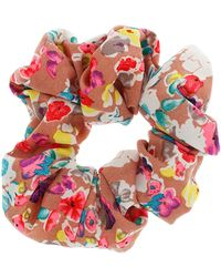 Topshop Bright Floral Hair Scrunchie - Lyst